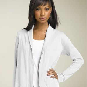 James Perse Drape Front Jersey Jacket